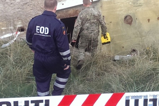 Fandt granater på Sjællands Odde