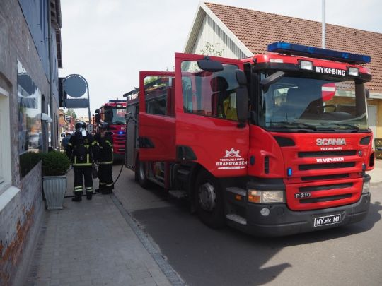 Brand på Hotel du Vest i Nykøbing