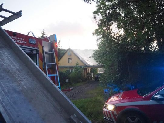 Natlig brand i hus i Stenstrup