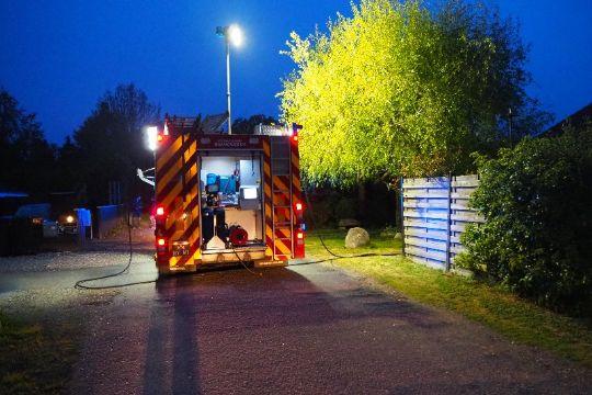Udrykning til mindre brand i Rørvig