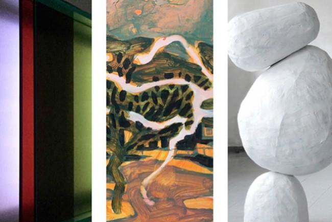 Fernisering på abstrakt kunst i Pakhuset