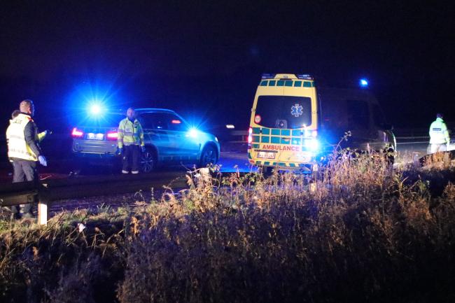 Aggressiv mand fra Odden anholdt efter trafikuheld