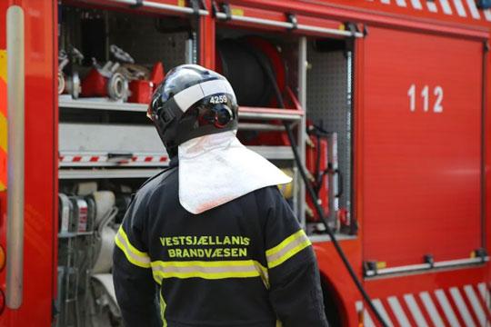 Ukrudtsbrænder startede brand i Højby