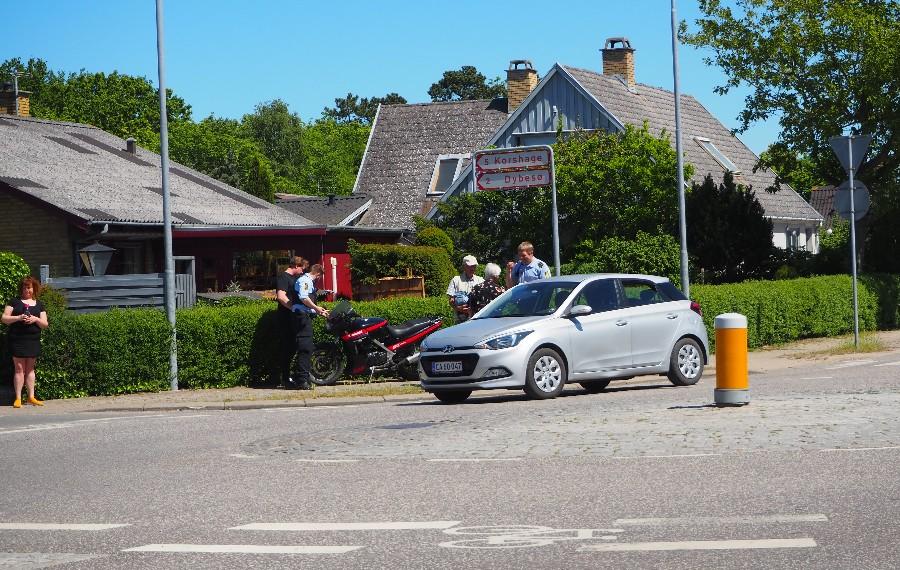 Motorcyklist kørt ned i Rørvig