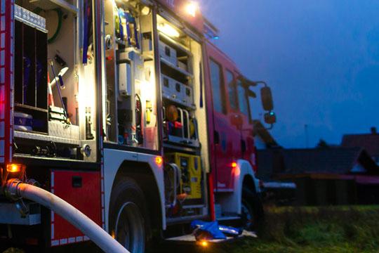 Alarm om brand i sommerhus