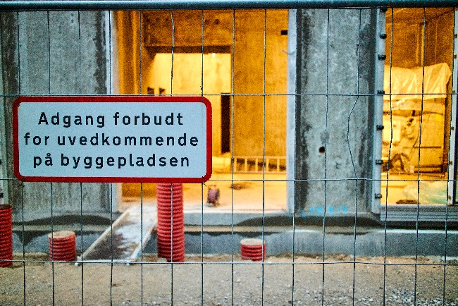Gang i byggeriet af boliger i Højby