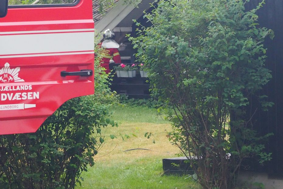 Brand i vaskemaskine i sommerhus