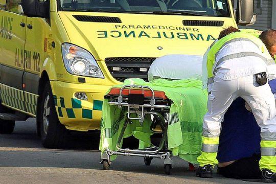 To cyklister på sygehus efter sammenstød