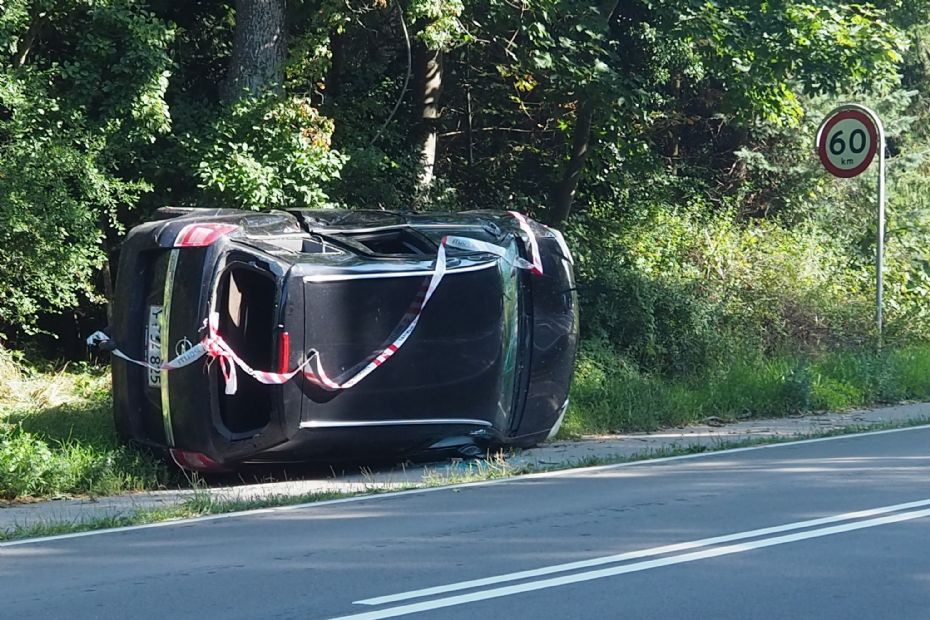 Bilist i lånt bil forulykkede på Rørvigvej